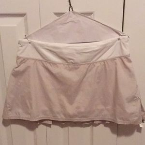Lululemon tan sparkle & white skirt sz 8 58204